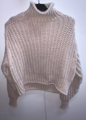 H&M Szydełkowany sweter różany