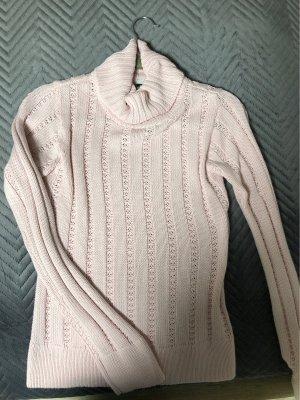 Basic Line Sweter z golfem jasny różowy