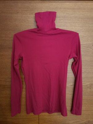 Jersey de cuello alto rojo frambuesa