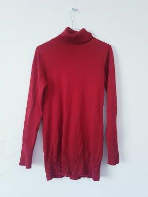 Basic Line Turtleneck Sweater carmine