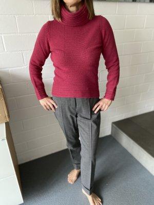Boss Orange Sweter z golfem czerwona jeżyna-bordo