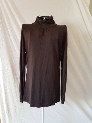 Anne L. Turtleneck Sweater dark brown