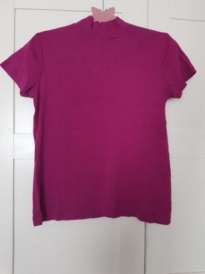 Biaggini Sweter z krótkim rękawem brązowo-fioletowy-fioletowy