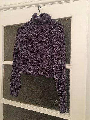 SheIn Turtleneck Sweater white-brown violet