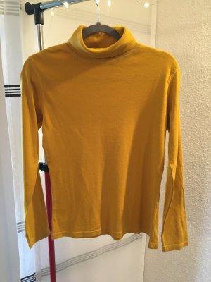 Yessica Maglione dolcevita giallo scuro-giallo-oro