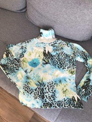 Jersey de cuello alto multicolor