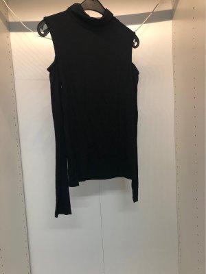 Rollkragenpullover schwarz mit cut-outs