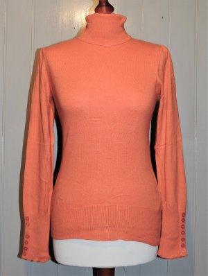 Ashley Brooke Pull-over à col roulé orange tissu mixte