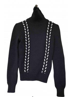 Celine Turtleneck Sweater dark blue-natural white