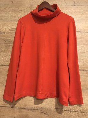 COS Bluzka ze stójką czerwony-ceglasty