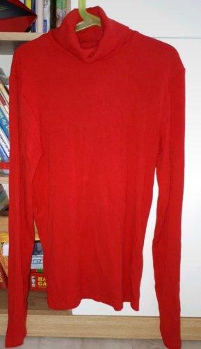 Amisu Camisa de cuello de tortuga rojo