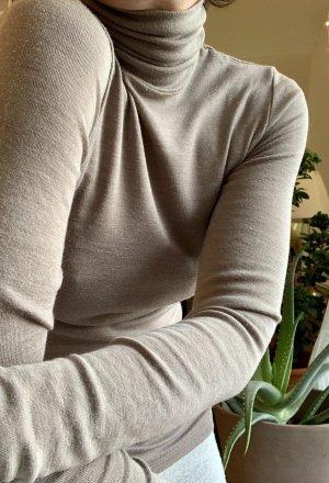 Hanro Koszulka z golfem szaro-brązowy-beżowy