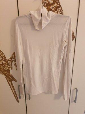 Amisu Camisa de cuello de tortuga blanco tejido mezclado