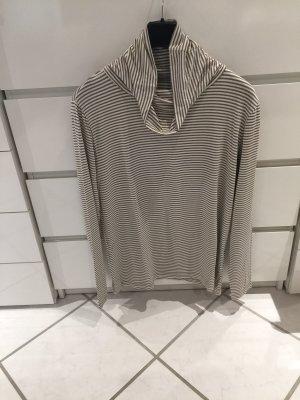 Stooker Camisa de cuello de tortuga crema-marrón grisáceo
