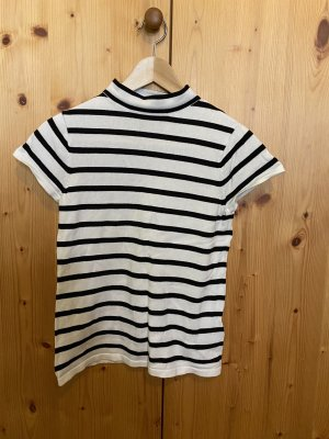 Esprit Sweter bez rękawów z cienkiej dzianiny czarny-biały