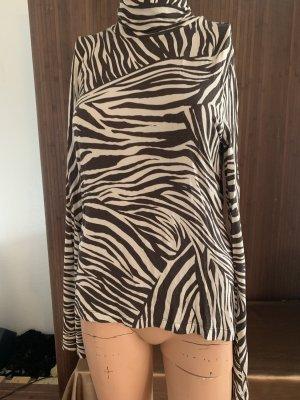 H&M Maglia a collo alto crema-marrone