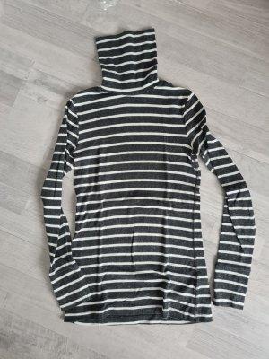H&M Top à col roulé blanc-gris