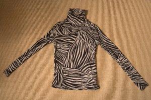 H&M Maglia a collo alto marrone scuro