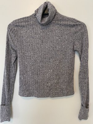 SheIn Turtleneck Shirt grey-light grey