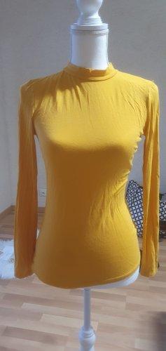 Maglia a collo alto giallo-oro