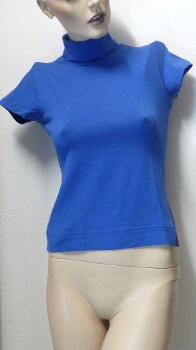 InScene Camisa de cuello de tortuga azul Algodón