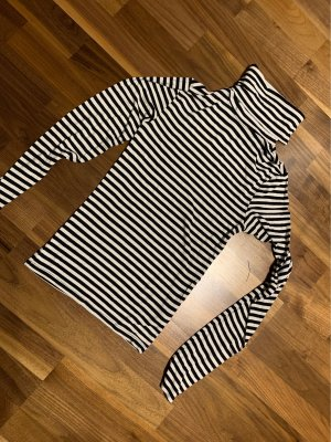 Hennes & Mauritz Koszulka z golfem czarny-biały