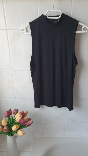 H&M Top con colletto arrotolato nero