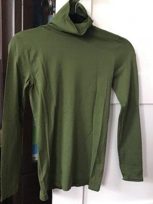 Neckholder Top forest green-khaki