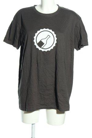 ROLY T-Shirt hellgrau-weiß Motivdruck Casual-Look