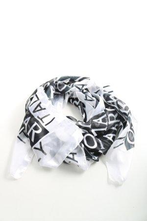 Roma Halstuch weiß-schwarz Schriftzug gedruckt Casual-Look