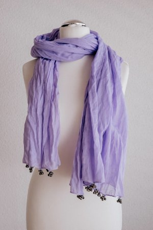Romano Shawls Tuch Schal Boho Ethno violett lila silber Glöckchen