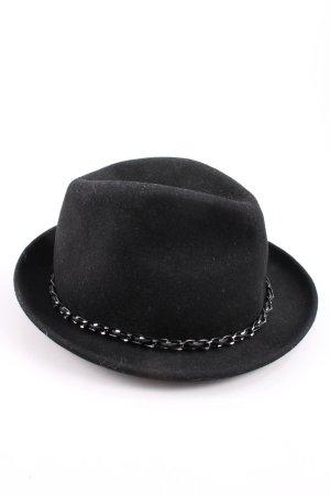 romano Sombrero de lana negro estilo «business»