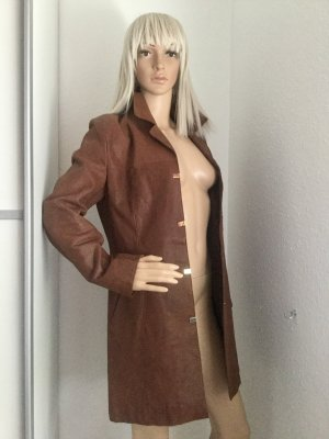 Vintage Leather Coat brown leather