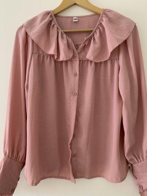 Colletto camicia rosa antico
