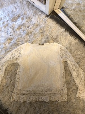 Emelda (Made in Turkey) Empiècement de blouses blanc