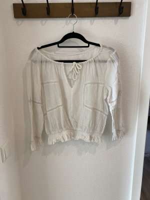 Urban Outfitters Ruffled Blouse white-natural white