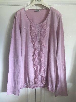 Romantische Bluse mit Spitze in 100 % Baumwolle