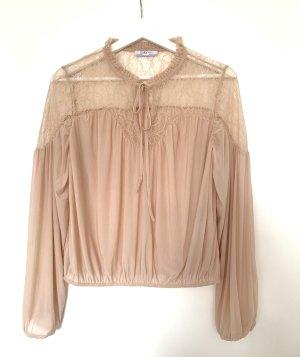 Romantische Bluse Nude Zara