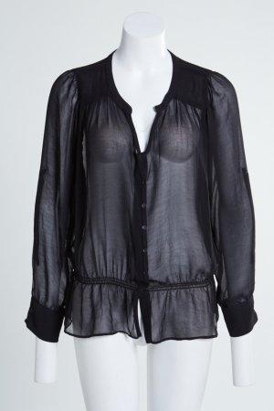 Romantische Bluse Schwarz Gr. L Zara