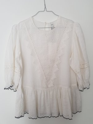 Trf by Zara Blusa in merletto bianco Cotone