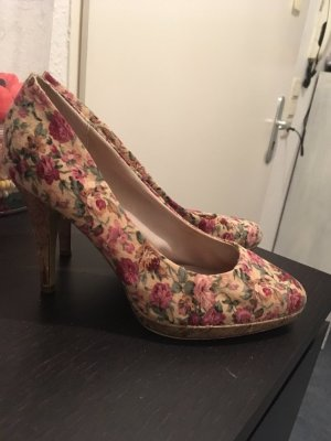 romantische Graceland Pumps mit Rosenmotiv TOP Gr.38