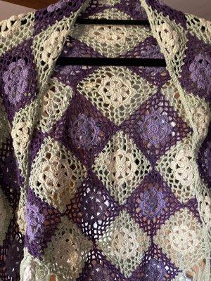 Étole violet-vert clair
