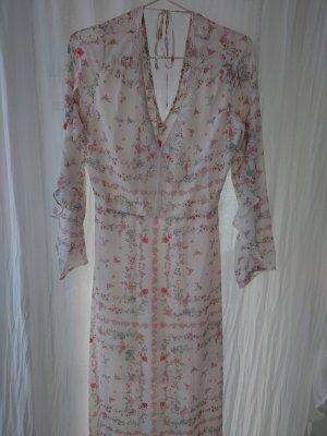 H&M Evening Dress cream-bright red