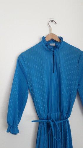 romantisches blaues vintage Kleid