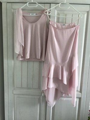 Romantisches Set aus rosa Rock und passendem Top Gr. 38 von together