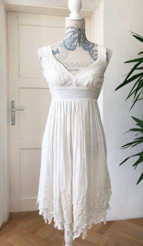 Amor & Psyche Midi-jurk wit