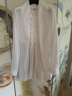 0039 Italy Blouse longue blanc coton