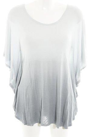 Romeo Gigli T-Shirt himmelblau-graublau Farbverlauf Casual-Look