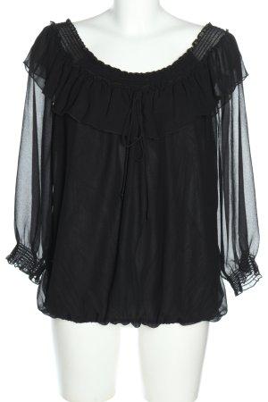 Romeo & Juliet Couture Blusa alla Carmen nero elegante