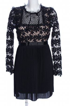 Romeo & Juliet Couture Cocktailkleid schwarz-creme Blumenmuster Elegant